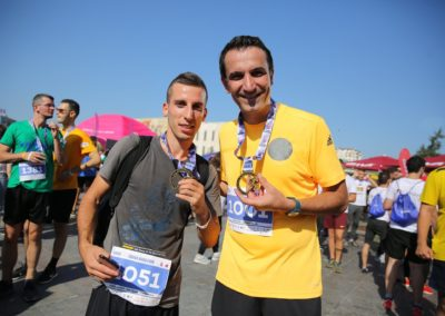 Our Project Assistant, Ramis together with the Mayor of Tirana.
