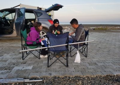 Team-work is a core element of bird ringing camp