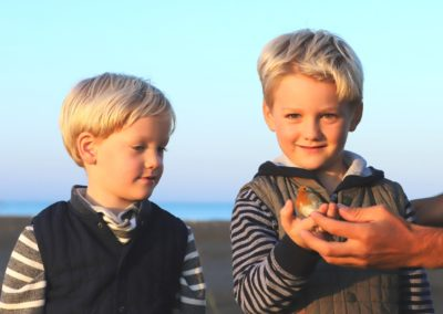 The young visitors of our bird ringing camp, Joni & Kroi.