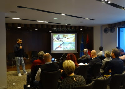 VCF representative during the presentation on the anti-poisoning work in the Balkan Peninsula