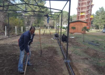 Durin the construction of the Rehab center, Divjaka_Karavasta National Park