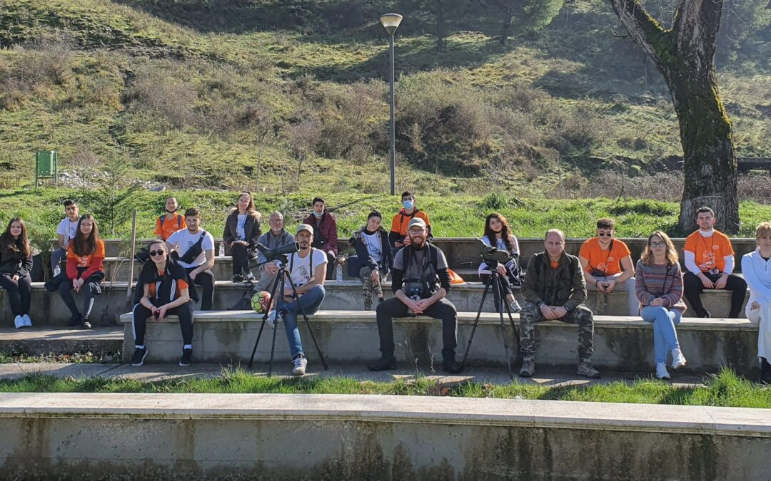 Students Of Conservation Youth Club-CYC From Gjirokastra, Albania, Take Care Of Nature And The Egyptian Vulture