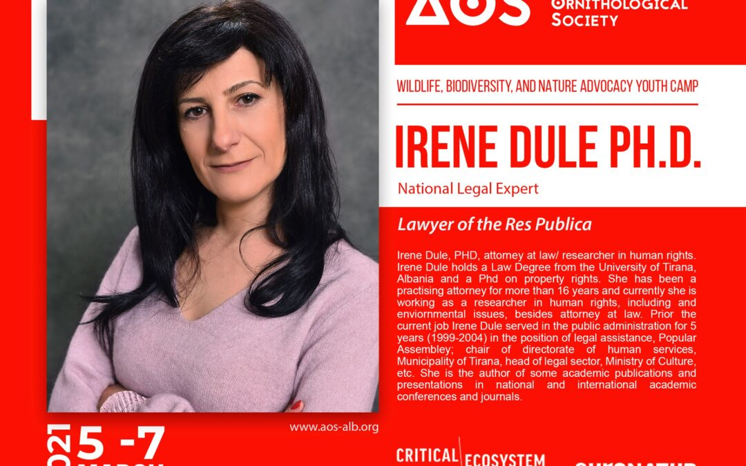 Irene Dule, trainer on the Wildlife, Biodiversity, and Nature Advocacy Youth Camp