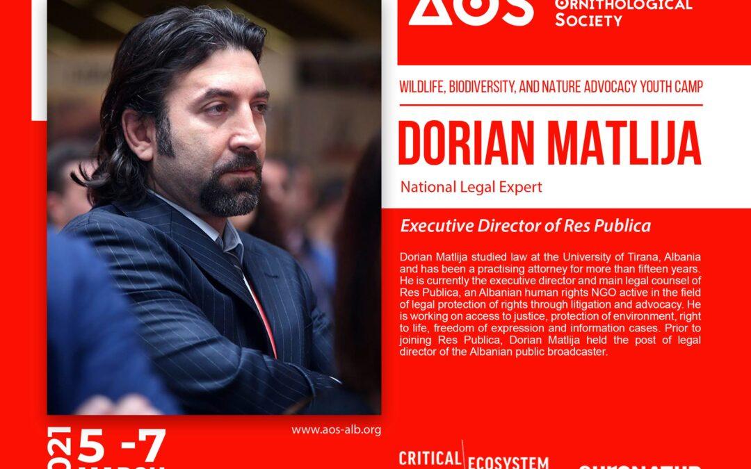 Dorian Matlija, trainer on the Wildlife, Biodiversity, and Nature Advocacy Youth Camp